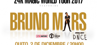 BRUNO MARS – 24K MAGIC WORLD TOUR 2017 – 2/12 – 20H00 – Estadio Olímpico Atahualpa